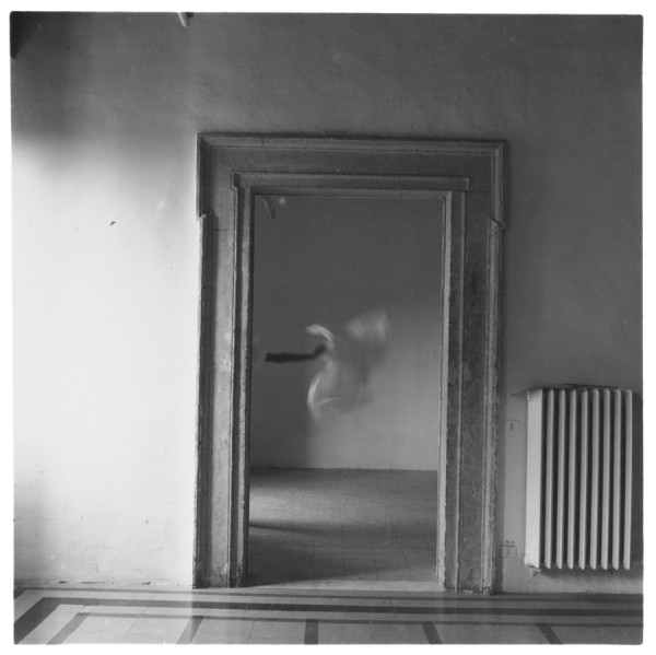 from Angel Series, Rome, Italy 1977 silver gelatin Estate print, edition of 40 9.5 x 9.5 cm (image size) 44.9 x 44.3 cm page size